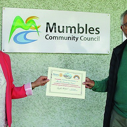 Mumbles Community Council recognised for service to community during Coronavirus pandemic